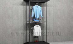 Стеллаж ЛОФТ для магазина мужской одежды с фронтальной навеской торговое оборудование КЛАССИЧЕСКИЙ ЛОФТ