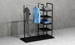 Стойка ЛОФТ для магазина мужской одежды торговое оборудование КЛАССИЧЕСКИЙ ЛОФТ