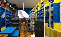 Дизайн интерьера 1 книжного магазина комиксов торговое оборудование КНИГОЛЮБ Дизайн 02