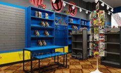 Дизайн интерьера 1 книжного магазина комиксов торговое оборудование КНИГОЛЮБ Дизайн 04