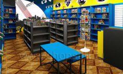 Дизайн интерьера 1 книжного магазина комиксов торговое оборудование КНИГОЛЮБ Дизайн 05