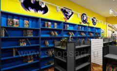 Дизайн интерьера 1 книжного магазина комиксов торговое оборудование КНИГОЛЮБ Дизайн 07