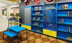 Дизайн интерьера 1 книжного магазина комиксов торговое оборудование КНИГОЛЮБ Дизайн 09