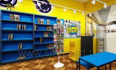 Дизайн интерьера 1 книжного магазина комиксов торговое оборудование КНИГОЛЮБ Дизайн 10