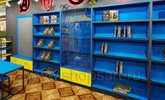 Дизайн интерьера 1 книжного магазина комиксов торговое оборудование КНИГОЛЮБ Дизайн 11