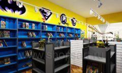 Дизайн интерьера 1 книжного магазина комиксов торговое оборудование КНИГОЛЮБ Дизайн 12