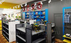 Дизайн интерьера 1 книжного магазина комиксов торговое оборудование КНИГОЛЮБ Дизайн 13