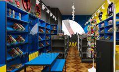 Дизайн интерьера 1 книжного магазина комиксов торговое оборудование КНИГОЛЮБ Дизайн 15