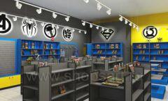 Дизайн интерьера 2 книжного магазина комиксов торговое оборудование КНИГОЛЮБ Дизайн 01