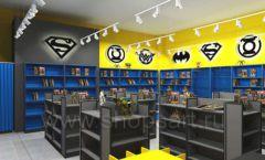 Дизайн интерьера 2 книжного магазина комиксов торговое оборудование КНИГОЛЮБ Дизайн 03