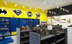 Дизайн интерьера 2 книжного магазина комиксов торговое оборудование КНИГОЛЮБ Дизайн 04