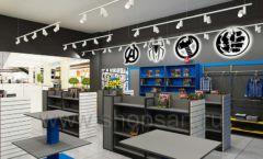 Дизайн интерьера 2 книжного магазина комиксов торговое оборудование КНИГОЛЮБ Дизайн 08