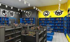 Дизайн интерьера 2 книжного магазина комиксов торговое оборудование КНИГОЛЮБ Дизайн 10
