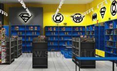 Дизайн интерьера 2 книжного магазина комиксов торговое оборудование КНИГОЛЮБ Дизайн 12