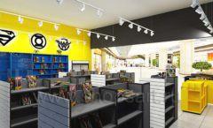Дизайн интерьера 2 книжного магазина комиксов торговое оборудование КНИГОЛЮБ Дизайн 13