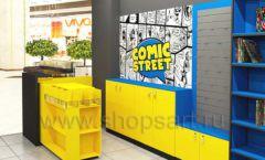 Дизайн интерьера 2 книжного магазина комиксов торговое оборудование КНИГОЛЮБ Дизайн 14