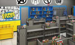 Дизайн интерьера 2 книжного магазина комиксов торговое оборудование КНИГОЛЮБ Дизайн 15