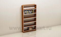 Стеллаж для книжного магазина с прямыми полками торговое оборудование КНИГОЛЮБ