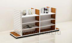 Остров для магазина книг с подиумами торговое оборудование КНИГОЛЮБ