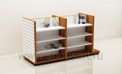 Остров для магазина книг с полками и экономпанелями торговое оборудование КНИГОЛЮБ