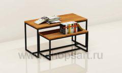Столы для магазина книг торговое оборудование КНИГОЛЮБ
