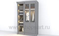 Шкаф двухсекционный для одежды мебель для гардеробной КЛАССИЧЕСКИЙ СТИЛЬ