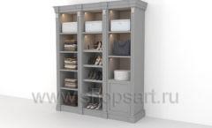 Шкаф для хранения обуви и одежды мебель для гардеробной КЛАССИЧЕСКИЙ СТИЛЬ