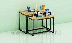 Столики для магазина косметики комплект торговое оборудование СПА КОСМЕТИК