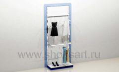Стеллаж для магазина одежды торговый с подиумом торговое оборудование ГОЛУБАЯ ЛАГУНА