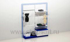 Стеллаж для магазина одежды с навеской и накопителем торговое оборудование ГОЛУБАЯ ЛАГУНА