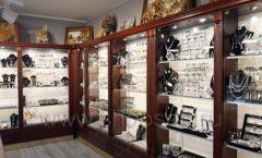 Торговое оборудование для ювелирного магазина Сувенир Парк Москва КОРИЧНЕВАЯ КЛАССИКА Фото 06