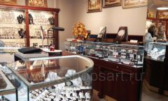 Торговое оборудование для ювелирного магазина Сувенир Парк Москва КОРИЧНЕВАЯ КЛАССИКА Фото 08