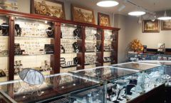Торговое оборудование для ювелирного магазина Сувенир Парк Москва КОРИЧНЕВАЯ КЛАССИКА Фото 25