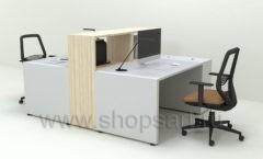 Стол для сотрудников Дуэт коллекция мебели для офисов ПАРТНЕР