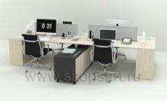 Мебель для сотрудников Квадро коллекция мебели для офисов ПАРТНЕР