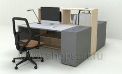 Рабочий стол для менеджеров Дуэт 3 коллекция мебели для офисов ПАРТНЕР