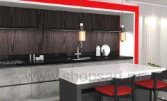 Кухня для офиса КРАСНАЯ ЛИНИЯ Вид 1