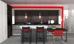 Кухня для офиса КРАСНАЯ ЛИНИЯ Вид 2