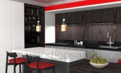 Кухня для офиса КРАСНАЯ ЛИНИЯ Вид 5
