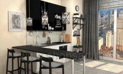 Кухня для офиса ЛОФТ Вид 1