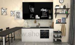 Кухня для офиса ЛОФТ Вид 2