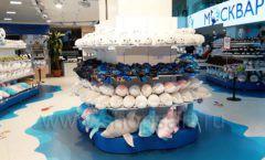 Торговое оборудование 2 магазина сувениров Москвариум ВДНХ ЦВЕТНЫЕ МЕТАЛЛИЧЕСКИЕ СТЕЛЛАЖИ Фото 24