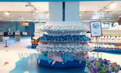Торговое оборудование 3 детского сувенирного магазина Москвариум ВДНХ ЦВЕТНЫЕ МЕТАЛЛИЧЕСКИЕ СТЕЛЛАЖИ Фото 02