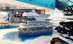 Торговое оборудование 3 детского сувенирного магазина Москвариум ВДНХ ЦВЕТНЫЕ МЕТАЛЛИЧЕСКИЕ СТЕЛЛАЖИ Фото 07