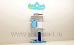Мебель для детского магазина торговый стеллаж с подиумом под одежду для мальчиков торговое оборудование ПРИНЦЕСС