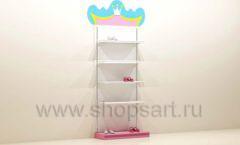 Мебель для детского магазина торговый стеллаж с подиумом под одежду для девочек торговое оборудование ПРИНЦЕСС