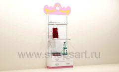 Мебель для детского магазина торговый стеллаж с накопителем под одежду для девочек торговое оборудование ПРИНЦЕСС