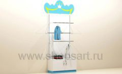 Мебель для детского магазина торговый стеллаж с накопителем под одежду для мальчиков торговое оборудование ПРИНЦЕСС