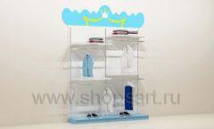 Мебель для детского магазина торговый стеллаж с навеской под одежду для мальчиков торговое оборудование ПРИНЦЕСС