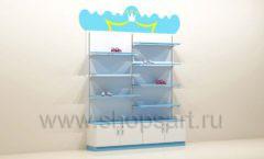 Мебель для детского магазина торговый стеллаж с полками под одежду для мальчиков торговое оборудование ПРИНЦЕСС